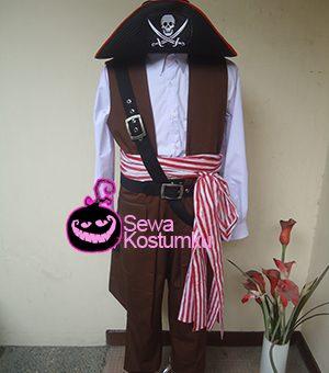 Sewa Kostum Bajak Laut Merah