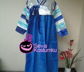 Sewa Kostum Korea Hanbook Biru