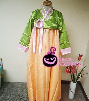 Sewa Kostum Korea Hanbook Hijau