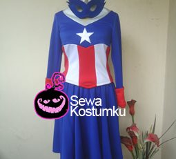 Sewa Kostum Captain America Girl