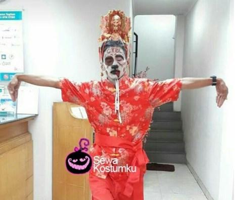 Kostum Halloween Sederhana Baju Chongsam China