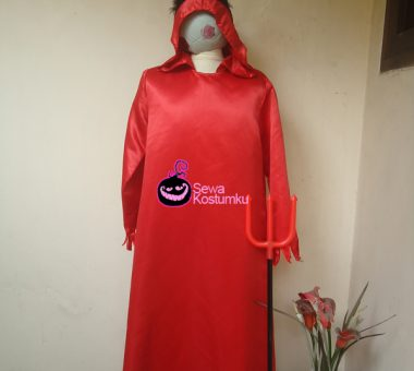 Sewa Kostum Jubah Merah Devil Cowo Size L