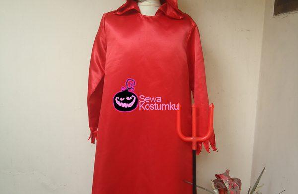 Sewa Kostum Devil XL Jubah Merah