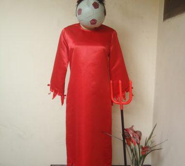 Sewa Kostum Jubah Merah Devil Cewe Size M