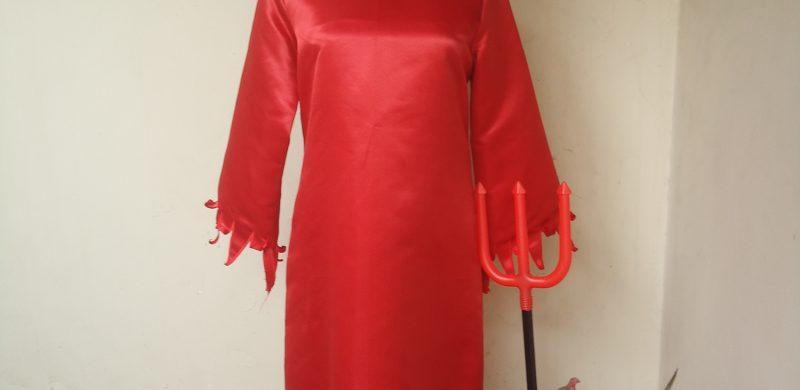 Sewa Kostum Jubah Merah Devil Cewe M