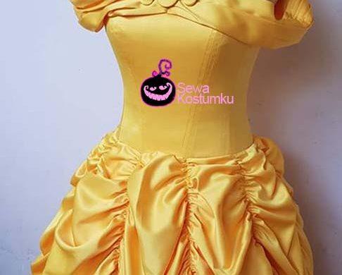 Sewa Kostum Princess Belle Beauty and The Beasr