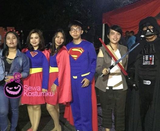 Sewa Kostum Superhero Thor Superman dan Supergirl