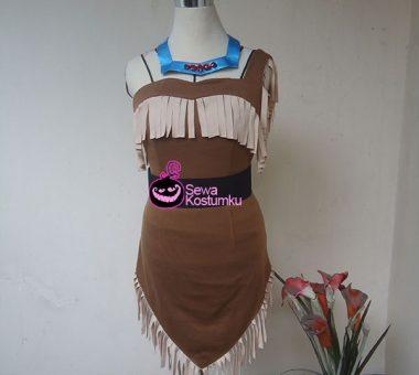 Sewa Kostum Princess  Pochahontas Cewe ukuran L dan XL