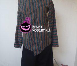 Sewa Kostum Baju Lurik Jawa Pria ukuran M,L , XL dan XXL