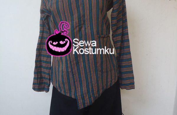 Sewa Kostum Baju Lurik Jawa Pria ukuran m l xl xxl
