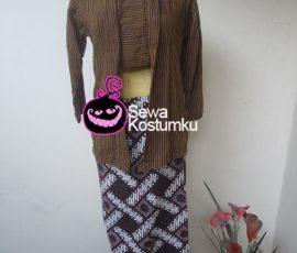 Sewa Kostum Baju Lurik Jawa Wanita ukuran M ,L dan XL