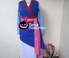 Sewa Kostum Cewe Princess Mulan ukuran M dan L