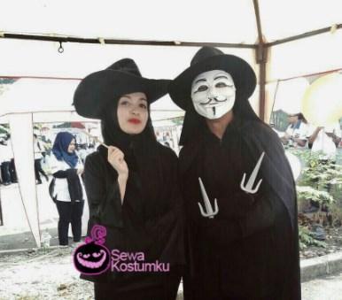 Kostum Halloween Sederhana Penyihir