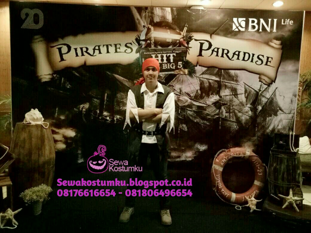Sewa Kostum Halloween Jakarta Pirate of Caribean