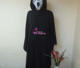 Sewa Kostum Jubah Hitam Halloween  Horor Scream ukuran M ,L dan XL