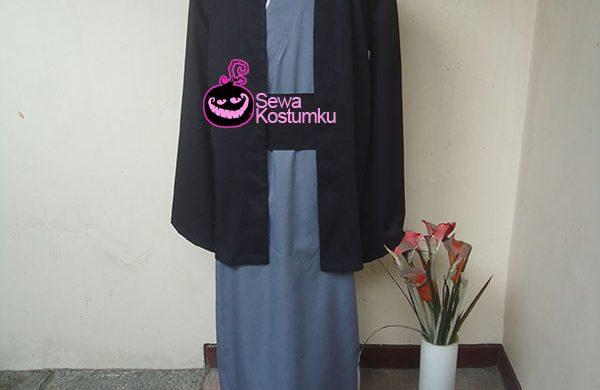 Sewa Kostum Kimono Cowo Hitam Abu-abu size L