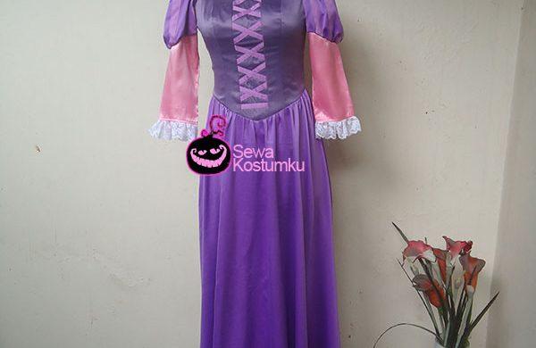 Sewa Kostum Putri Princess Rapunzel Ukuran S