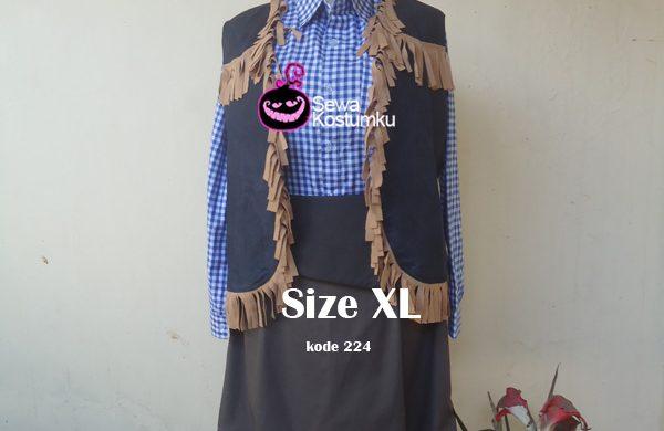 Sewa Kostum Cowboy Cewe Pendek Size XL