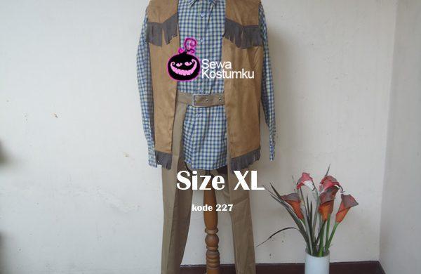 Sewa Kostum Cowboy Cowo XL kode 227