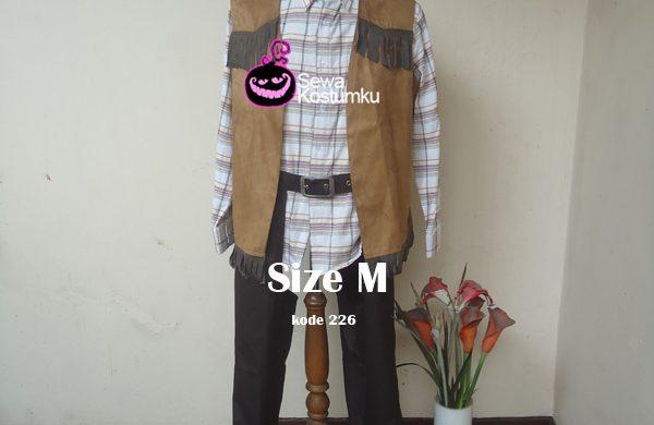 Sewa Kostum Cowboy Dewasa Putih size M kode 226
