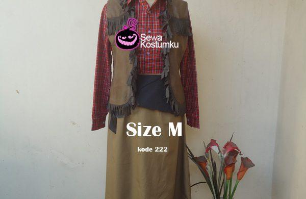 Sewa Kostum Cowboy Merah M size kode 222