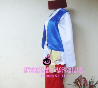 Sewa Kostum Aladin Putih Merah Biru size S L XL (kode 246)