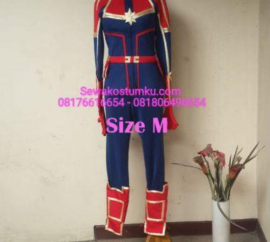 Sewa Kostum Captain Marvel ukuran M (kode 248)