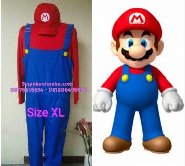 Sewa Kostum Mario Bross ukuran XL (kode 165)