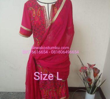 Sewa Kostum India Wanita Ukuran L
